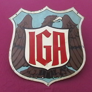 1930's International Grocer's Association Sign.