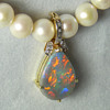 5.5ct Black Opal & Diamond Enhancer Pendant, 14k Gold