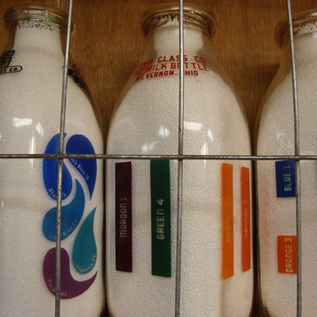 Square Color Sample Milk Bottles..... - Bottles