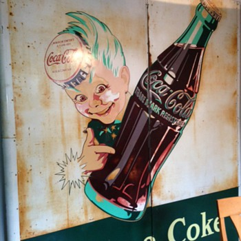 "1940's Coke Sprite ""Have a Coke"" Outdoor Sign"