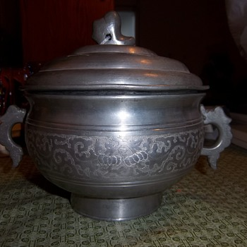Silver double pot? from China 