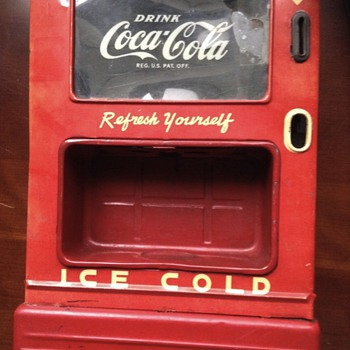 1950s coca cola dispenser bank