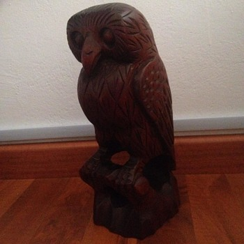 Large carved wood owl