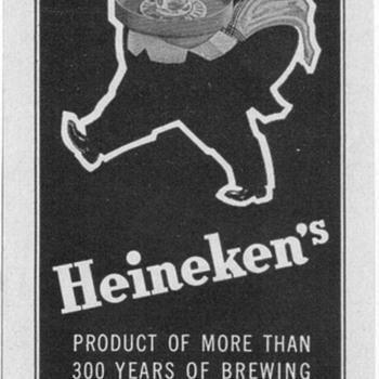1950 Heineken Beer Advertisement - Advertising