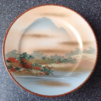 Japanese painted plates