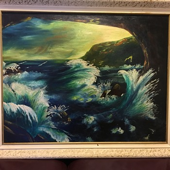 Watery Landscape - Visual Art