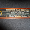 Illinois Traction Sleeping Car Service Sign