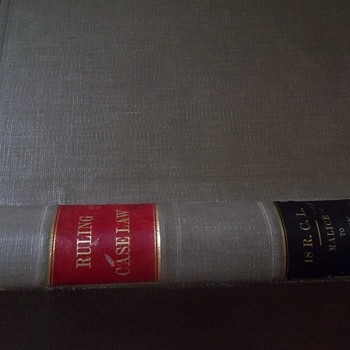 Ruling Case Law 1917 McKinney Vol 18 ORIGINAL Hardcover