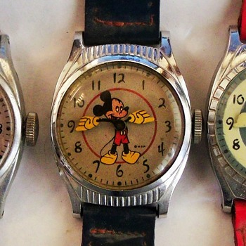 The Three Different Variants of the 20th Birthday Series Mickey Mouse - Wristwatches
