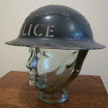 Scarce British WWII steel helmet.