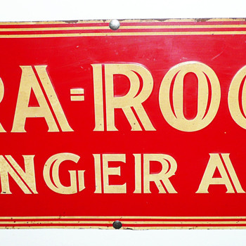 Gra-Rock Ginger Ale Tin Sign