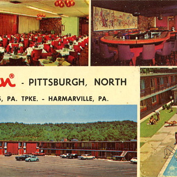 Two Vintage Motel Postcards - Postcards
