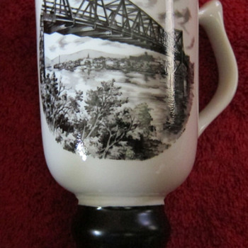 Hall China tri-state East Liverpool Ohio pottery festival 1970 mug - Art Pottery