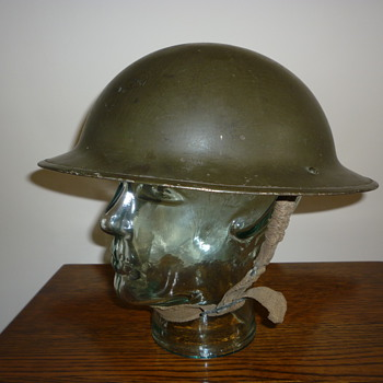 British WWII steel combat helmet - Military and Wartime