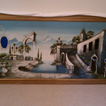 1960s italian provincial large painting