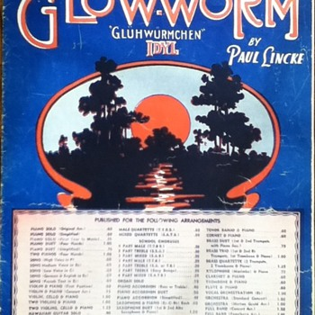 &quot;The Glow-Worm&quot; Sheet Music - Paper