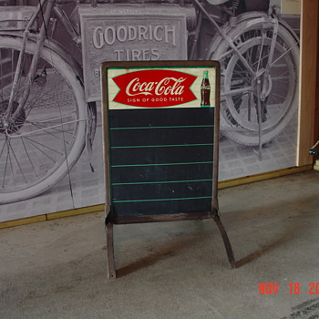 Coca-Cola Sidewalk Menu Board