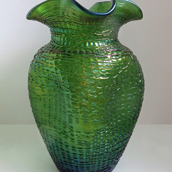 Loetz Crete Chiné Vase - Art Glass
