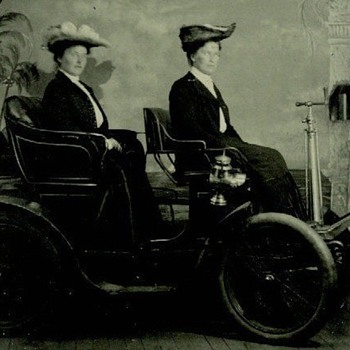Tintype of Early Automobile