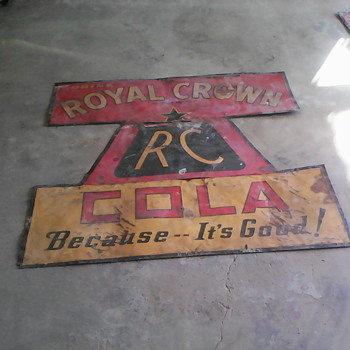 Vintage Crown Cola Sign - Signs