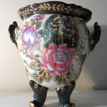 Any ideas??  Very unusual flower vase! - Asian
