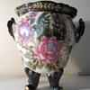 Any ideas??  Very unusual flower vase!