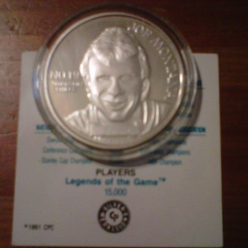 joe montana player of the decades 1 oz troy silver coin 1991 - Football