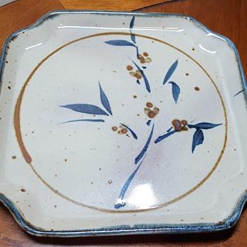 Square Stoneware Plate
