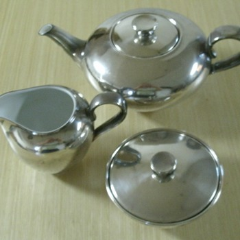 WMF Tea Set ... 1st cleaning - Sterling Silver