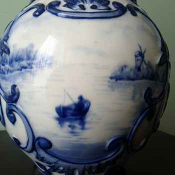 Antique Dutch Delft Vase - China and Dinnerware