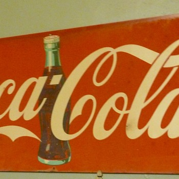 Tin Sign With Enamel Paint - Coca-Cola