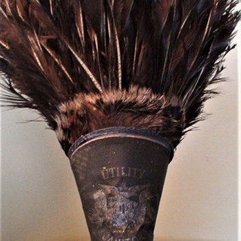"""Utility Janitor"" Turkey Feather Duster - Victorian Era"