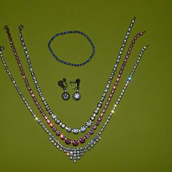 Vintage rhinestone jewellery
