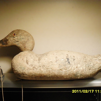 Genuine Mallord Duck Decoy - Folk Art