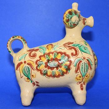 Mysterious Ram Creamer - Art Pottery