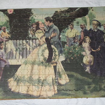 "1939 ? JIGSAW PUZZLE "" THE fAREWELL"""