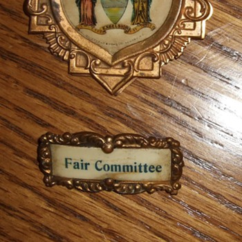 New York State Fair(?) Badges and Pins. Made by Whitehead and Hoag Co.