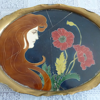Art Nouveau Ceramics By Carl Sigfrid Luber - Tiled Tray