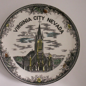 Church Plate, Virginia City, Nevada - China and Dinnerware
