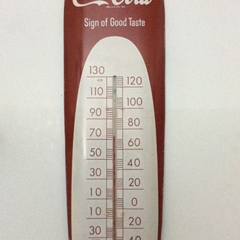 Coca Cola Cigar Thermometer Sign Of Good Taste - Coca-Cola
