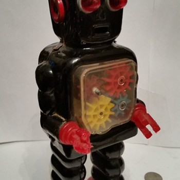 1950's/60's Japan Windup Gear Robot !!!