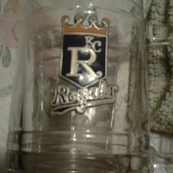 vintage kc royals beer glass