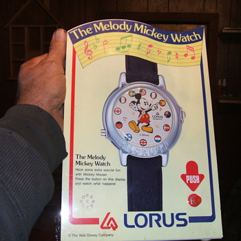 """It's A Small World"" Mickey Watch - Wristwatches"