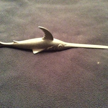 Cool but goofy marlin letter opener