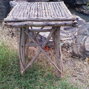 The Blair Witch's Stool????   A wilderness find. Posted for Halloween! =) - Furniture