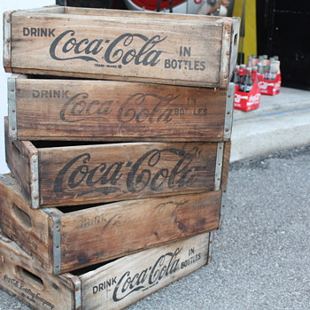 Wooden Coca Cola Crates
