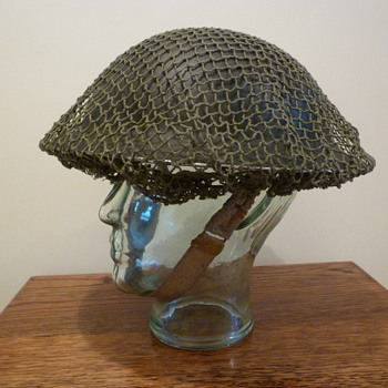 British WWII late war cammo helmet. - Military and Wartime