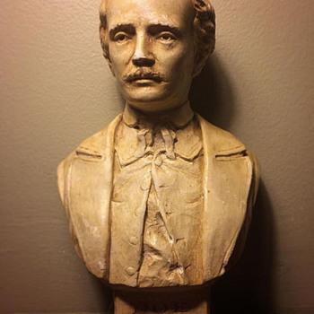Edgar Allan Poe signed bust 1939 - Visual Art