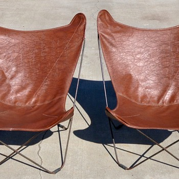 Pair of Original 1940's Knoll Hardoy (Butterfly) Chairs  - Mid-Century Modern