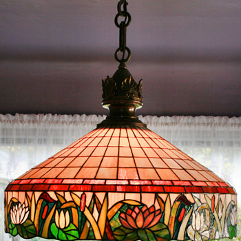 American Leaded glass Hanger by Empire Quality Lamps of Chicago - Lamps